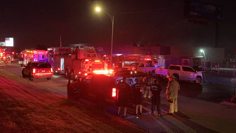 A Millard area fire broke out near a strip mall area around 147th and Industrial Road early...