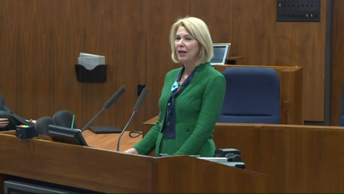 Omaha Mayor Jean Stothert gave her State of the City address Friday afternoon, Feb. 28, 2020. (WOWT)