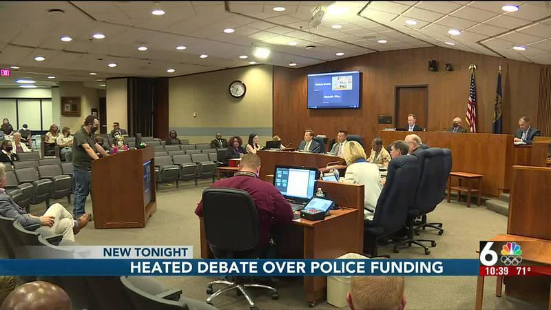 Heated debate over police funding - 10:30 pm