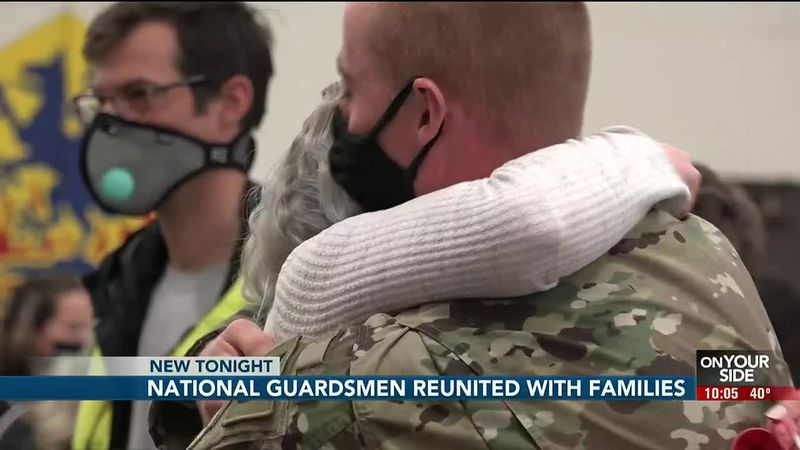 National Guardsman reunited with families - 10 pm