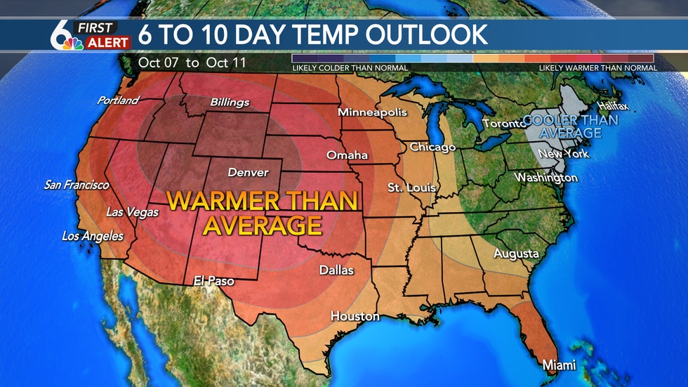 Warmer Weather Returns for Mid-October