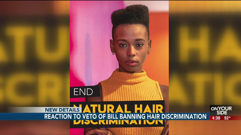 A bill aimed to ban natural hair discrimination within the workplace was vetoed by Nebraska...