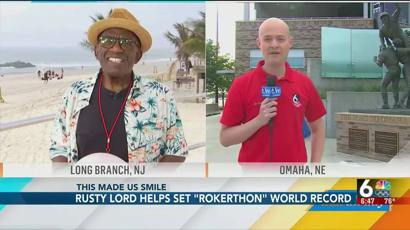 """Rusty Lord helps set """"Rokerthon"""" world record - 6:30 pm"""