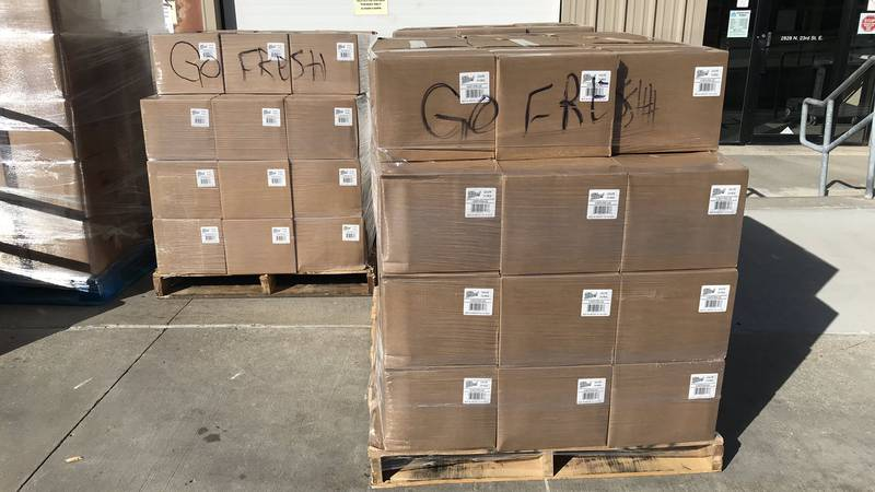 Open Door Mission received a delivery of produce Thursday, Oct. 1, 2020, via the Farmers to...