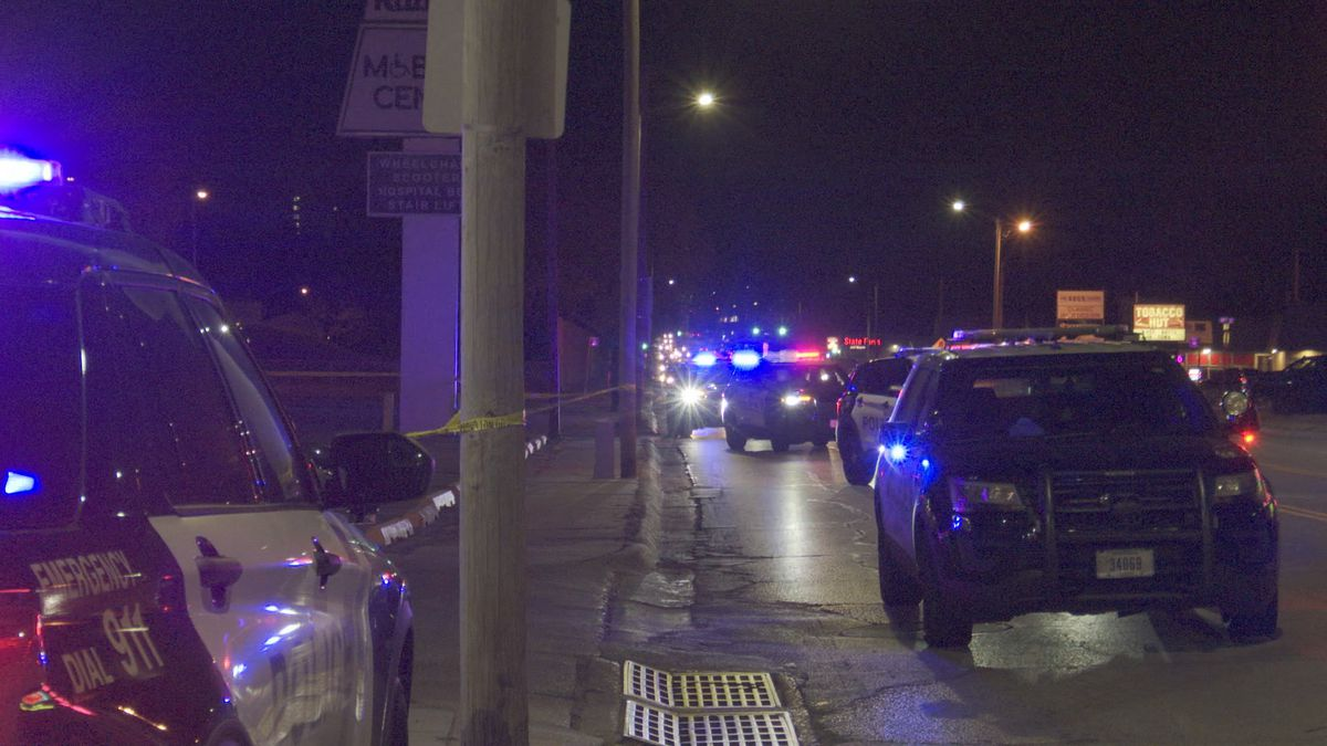 Police responded to a reported stabbing Friday night outside the Kubat Pharmacy.
