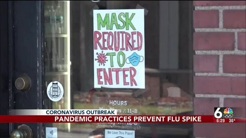 Pandemic practices prevent flu spike