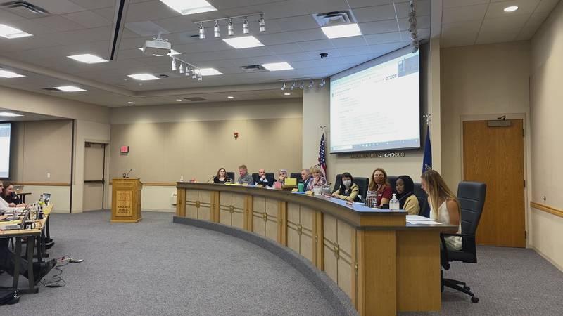 Students speak at a Millard Public Schools board meeting on Monday, Sept. 20, 2021.