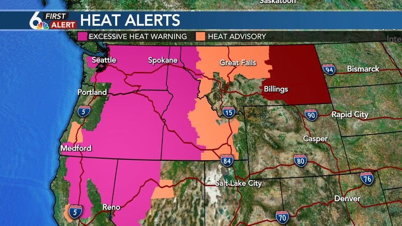 The heat dome is shifting east, but excessive heat continues for the Intermountain West