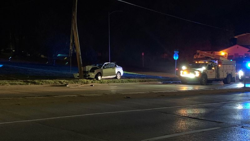 Omaha Police responded to a crash near 56th and Ames early Tuesday.