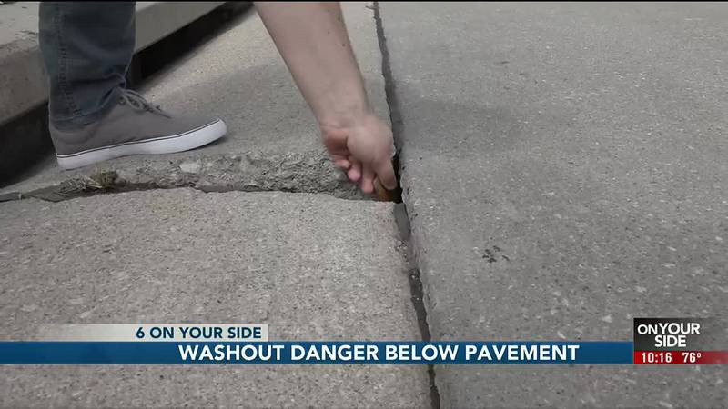 A danger is lurking just below the surface in a northwest Omaha neighborhood.