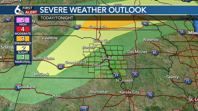Severe Weather Outlook Saturday evening/night
