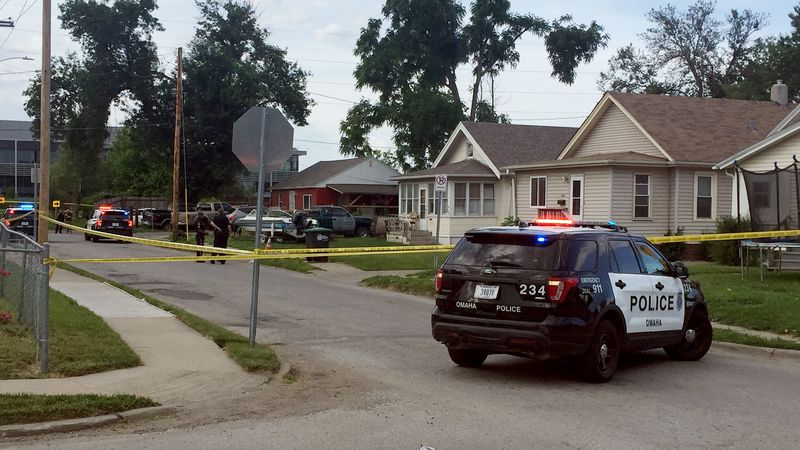 Omaha Police responded to the scene of a shooting reported at the scene of a car crash in north...