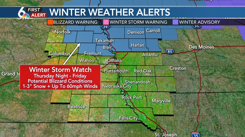 Winter Storm Watch Friday