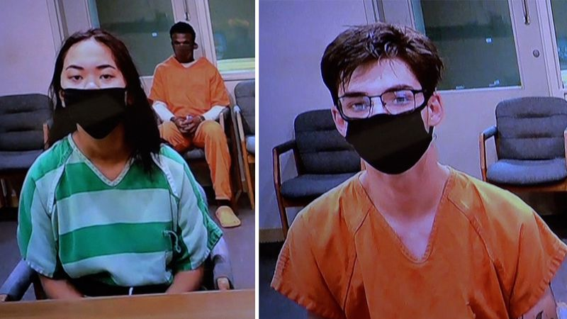 Gabriella Laws, left, and Joshua Fithian appeared in Sarpy County Court on Monday morning. Both...