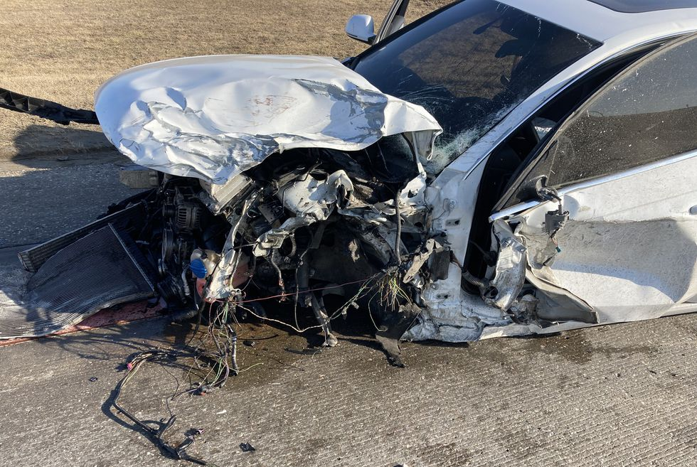 Authorities said a Douglas County Sheriff's deputy was parked behind a vehicle in the westbound...