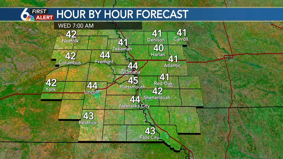 Wednesday AM Lows