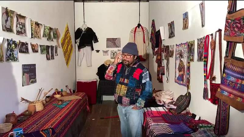 A converted semi-trailer now serves as the Mamo gallery, a mobile art exhibit that featured...