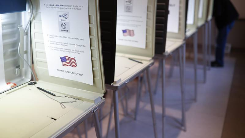 Voting booth photo