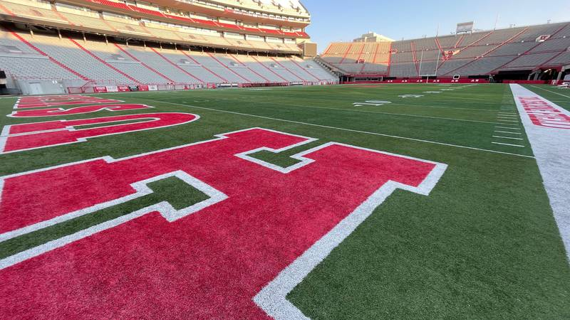 A shot of an empty Memorial Stadium in Lincoln, Nebraska after the Huskers beat Fordham 52-7 on...