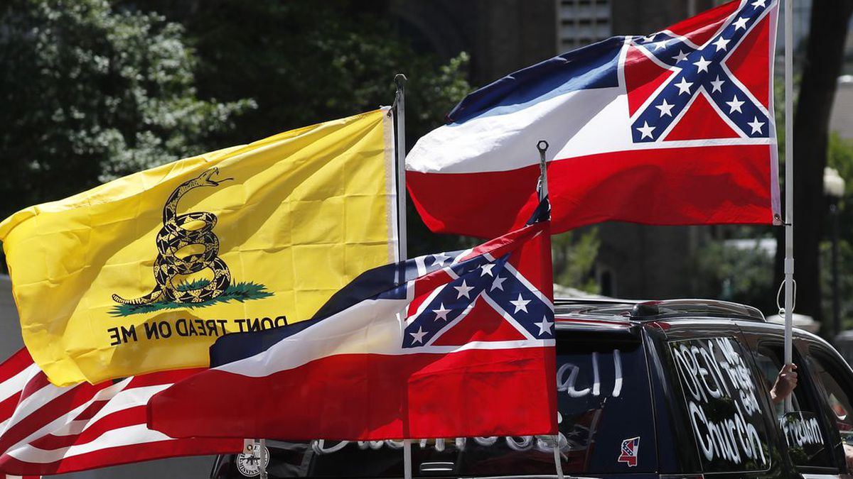 Mississippi has the only state flag that includes the Confederate battle emblem. (WJRT)