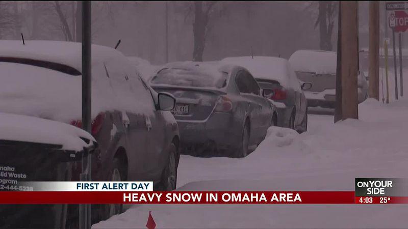 Heavy snow in Omaha area-Brian