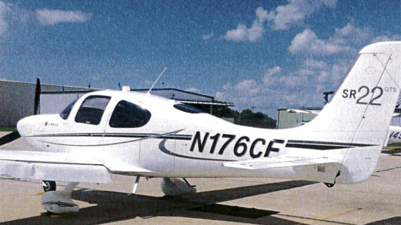 This photo shows a Cirrus SR22 plane similar to the one David Paladino was flying Thursday,...