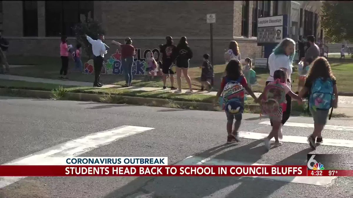 Students are returning to school in person today at Council Bluffs Community Schools.