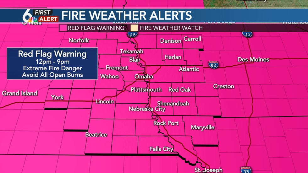 Red Flag Warning Monday for extreme fire danger