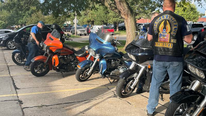 Patriot Riders at Cpl. Page funeral on Friday, Sept. 17, 2021.