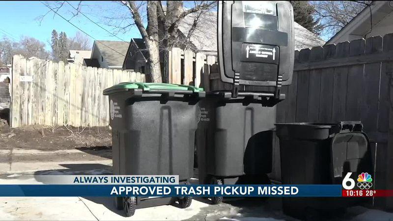 Approved trash pickup missed