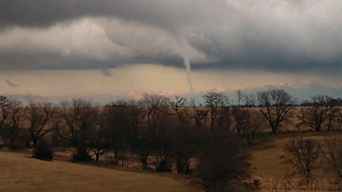 A rare November tornado prompted warnings in central Iowa Saturday - ISP Photo.