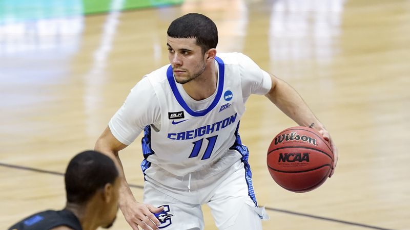 Creighton's Marcus Zegarowski plays in the NCAA tournament
