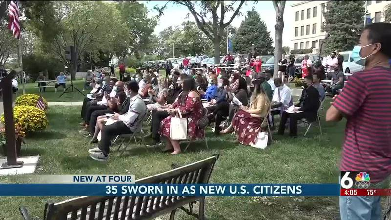 35 people were sworn in as United States citizens