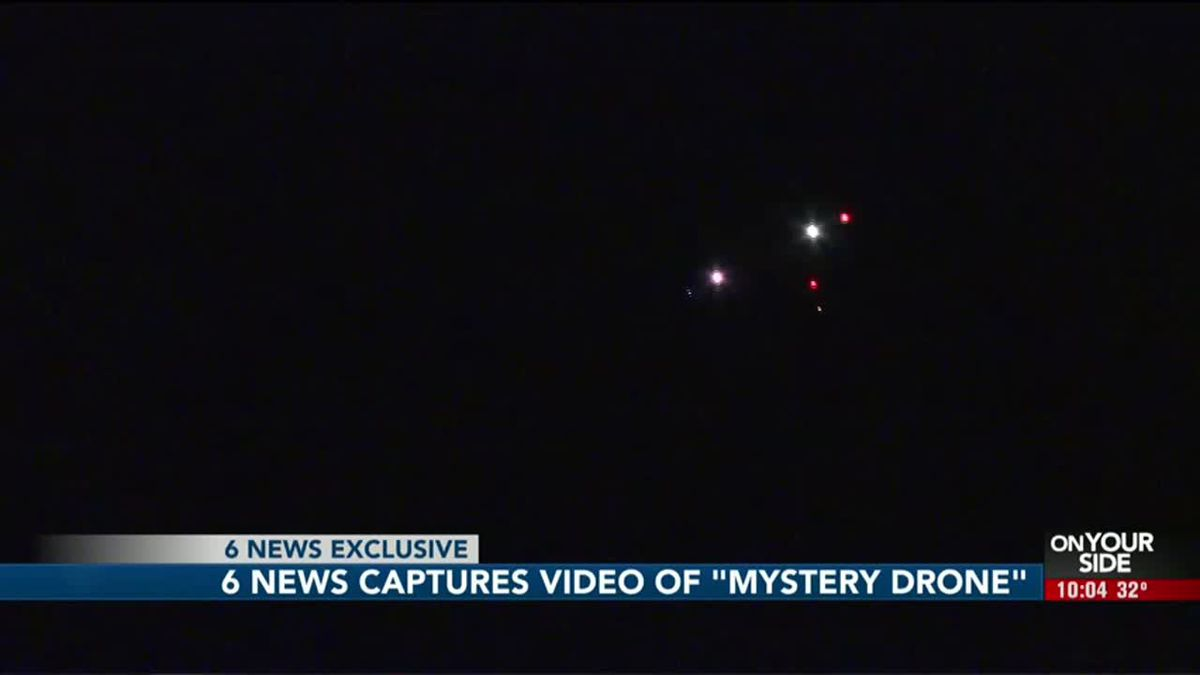 Reports of mysterious drones have been in the news since late December, but on Tuesday night, Jan. 7, 2020, 6 News experienced — and recorded — such an encounter first-hand on a rural road a few miles outside of Omaha. (WOWT)