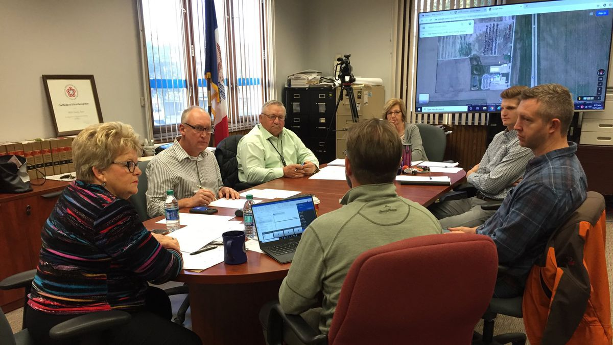 Mills County Leaders meet to discuss buyout options and how to protect their county.