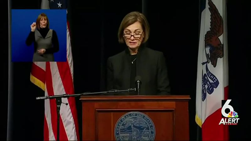 Iowa Gov. Kim Reynolds gives an update on the state's COVID-19 response on Thursday morning,...