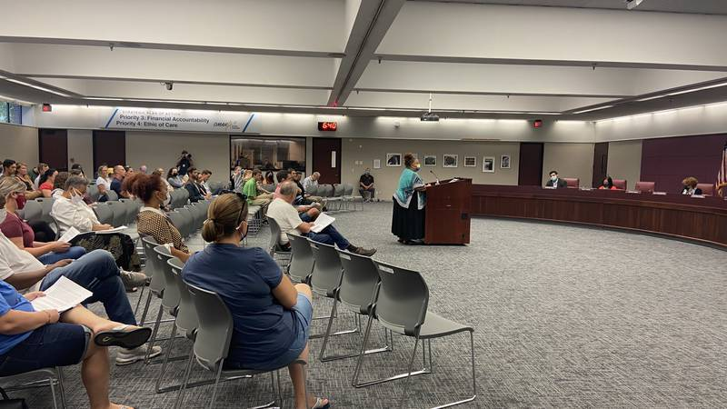 Omaha Public Schools heard public comments on masks during a special meeting Monday, Aug. 9,...