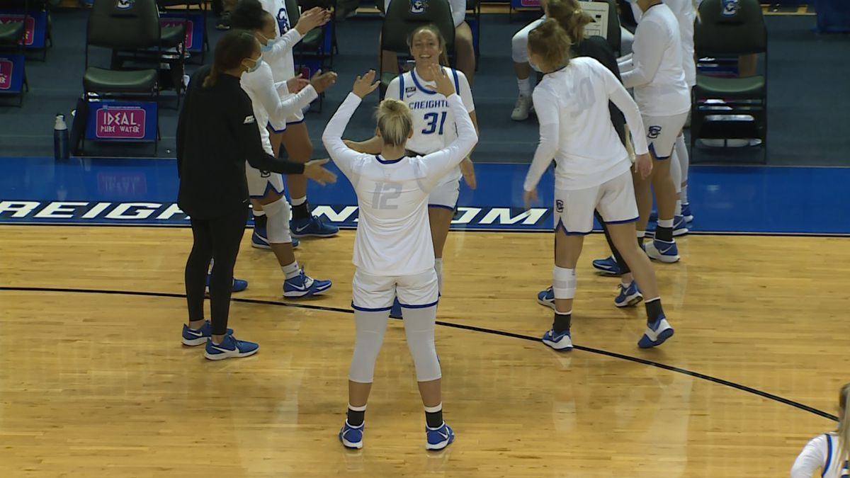 Emma Ronsiek is introduced as a starter in Creighton's game against DePaul at D.J. Sokol Arena...
