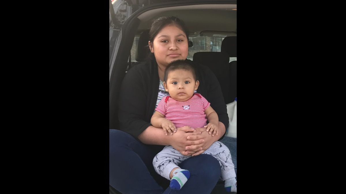 Elver Benito, 1, pictured with his mother, Dominga Benito, 17. (Courtest Lancaster County Sheriff's Office)