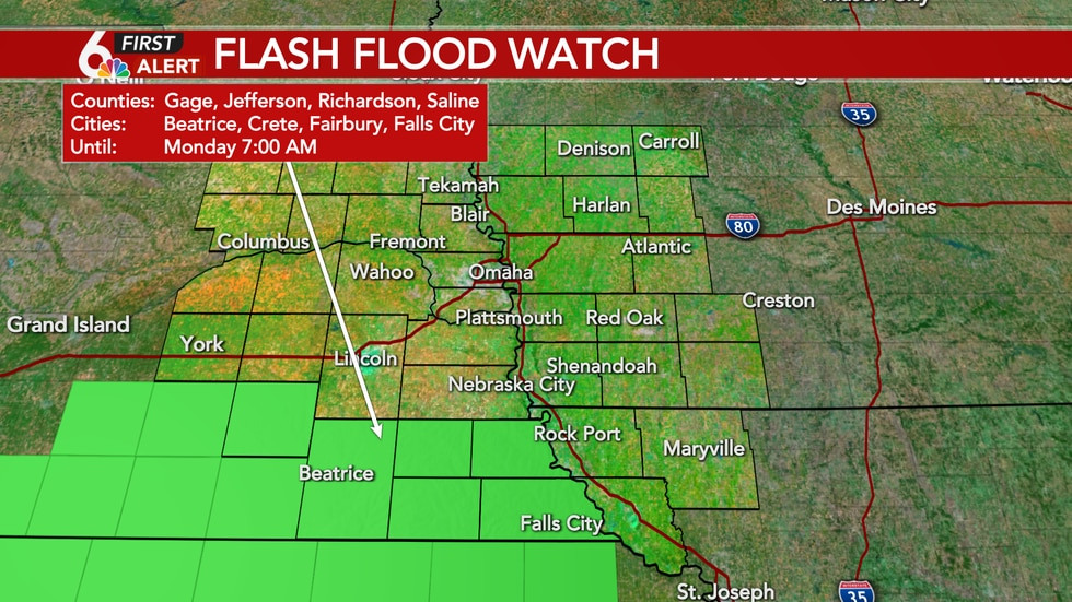 2 to 4 inches of rainfall possible