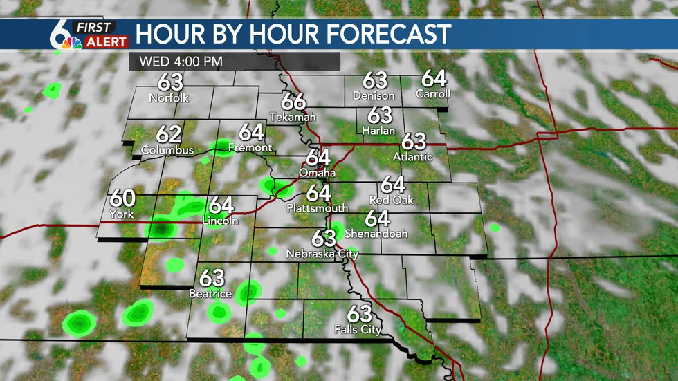 PM Showers Wednesday