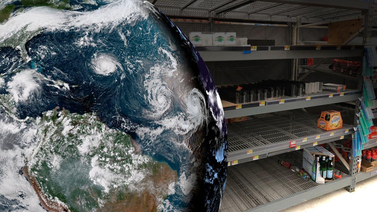 North Carolina Beach/Wilmington Walmart has empty shelves as residents prepare for Hurricane Florence.