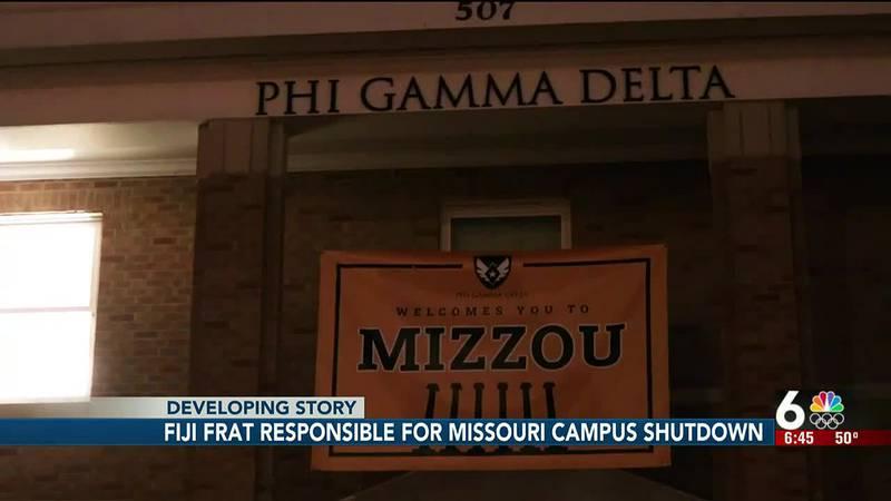 Fiji frat responsible for Missouri campus shutdown
