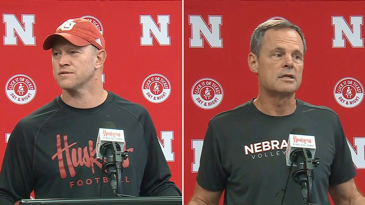 Following the news out of California, where the governor signed a law defying the NCAA, Nebraska Football Coach Scott Frost and Volleyball Coach John Cook on Monday, Sept. 30, 2019, talked about allowing college athletes to make money from endorsement deals. (WOWT)