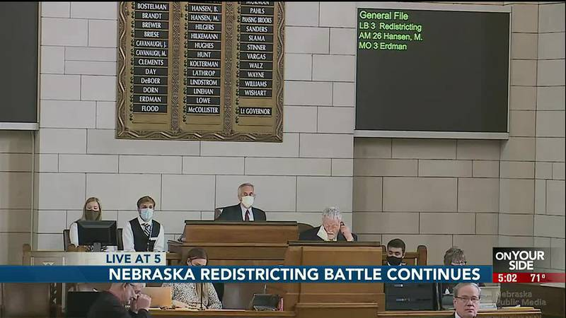 Nebraska's redistricting process continues to stall after another eight-hour session on Monday.
