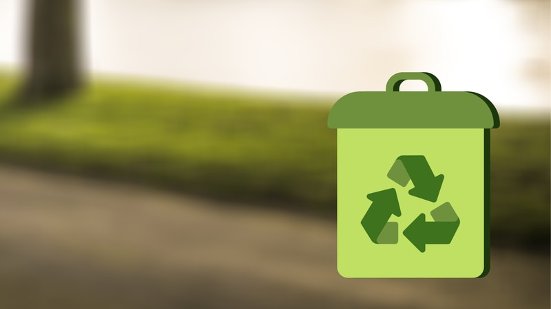Recycling graphic.