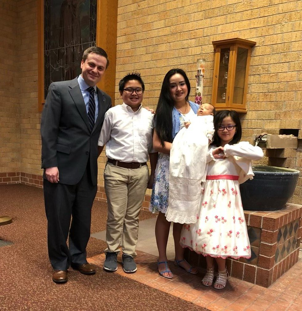 Brian Fitzpatrick and his family have two generations of baptisms and confirmations at St....