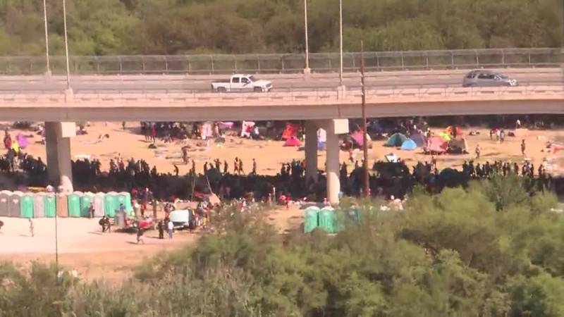 CNN's Rosa Flores is at the border in Del Rio, Texas, talking to migrant families gathered there.