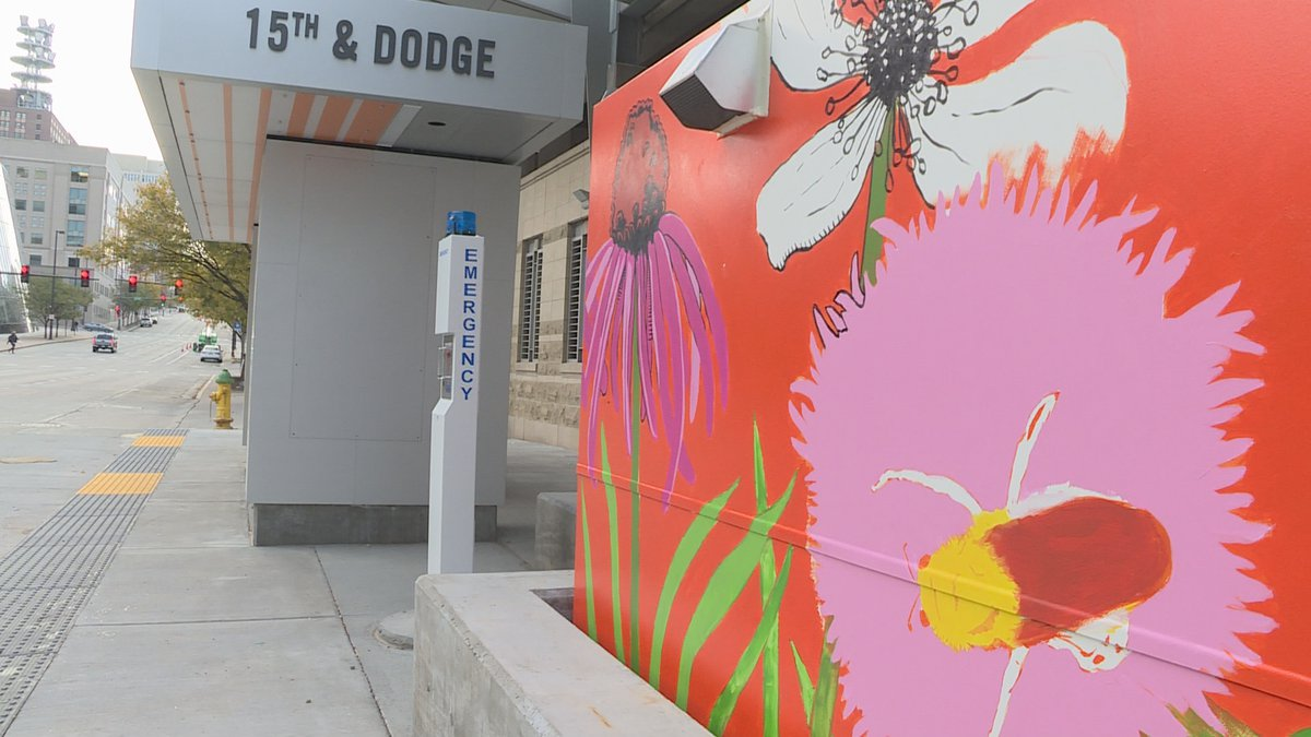 A handful or ORBT bus stops are getting a makeover from local Omaha artist