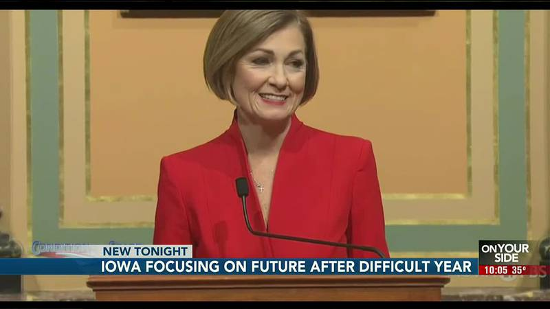 Governor Kim Reynolds started her address focused on Iowa's future as it moves forward from a...